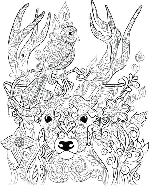 deer coloring page for adults 88 coloring pages for adults deer floral deer adult