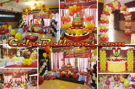 themed birthday party places cars themed balloon decoration at hannah s party place