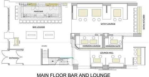 Bar Floor Plan Design by Commercial Bar Floor Plans The Lakes Country Club On