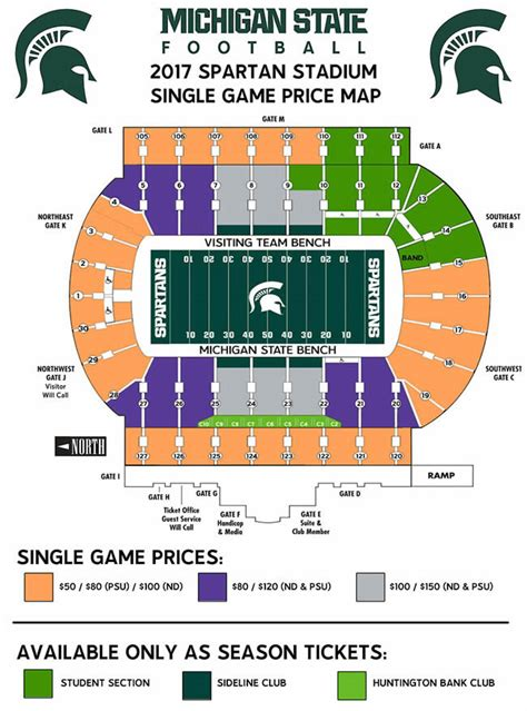msu student section football tickets michigan football stadium seating diagram diagrams auto