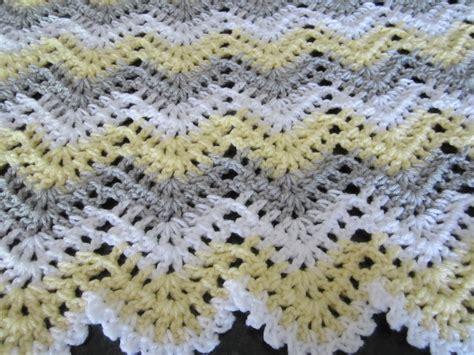 neutral ripple afghan allfreecrochetafghanpatterns com gender neutral chevron ripple baby crochet blanket afghan
