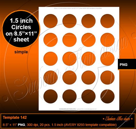 instant download 1 5 inch circles template 142 on lettersize