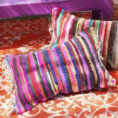 pillows made from rugs no sew rag rug pillows 183 how to make a floor cushion 183 sewing on cut out keep