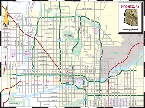 Phoenix Area Map by Phoenix Map Online Map