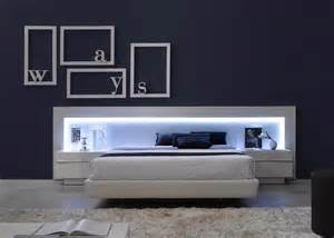 ultra modern bedroom furniture spain made ultra modern platform bed w led headboard upholstered bed frame k modern