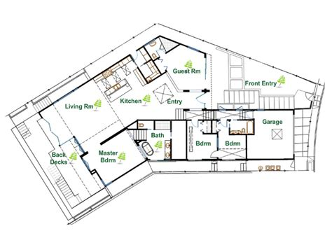 Sustainable Floor Plans | sustainable luxury in the vicino house