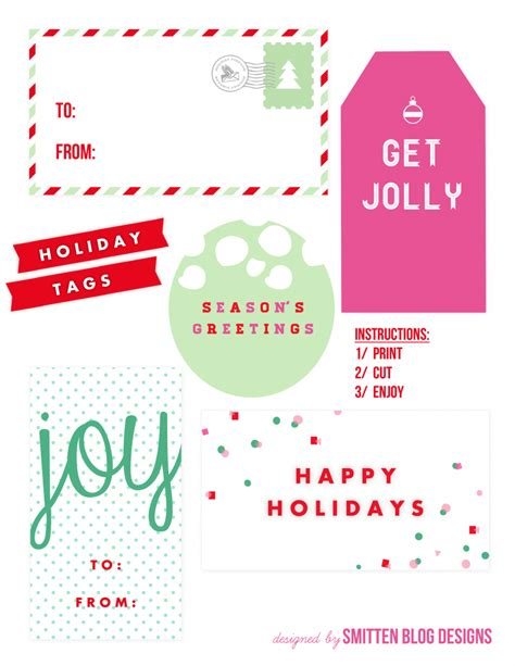 where to get tags free printable gift tags