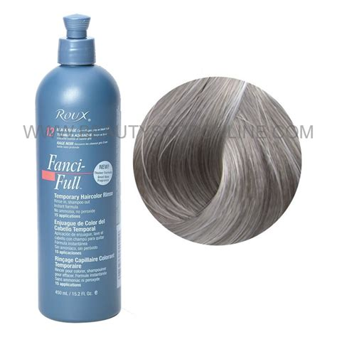 fanci temporary hair color roux fanci rinse silver lining 42 stop