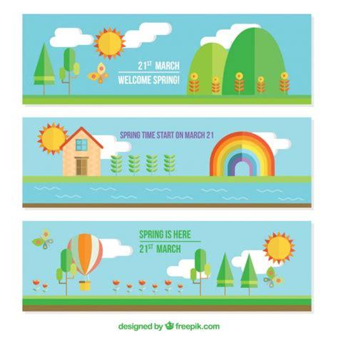 design banner landscape landscape banners in flat design vector free download