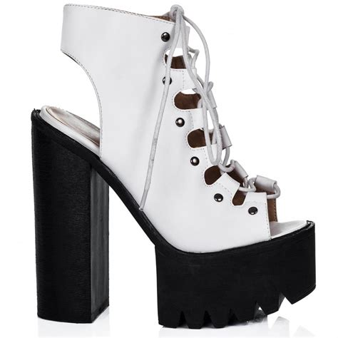 spylovebuy white ankle boots shoes at spylovebuy