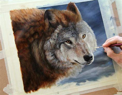 watercolor wolf tutorial paintings of wolves on canvas wildlife art gallery
