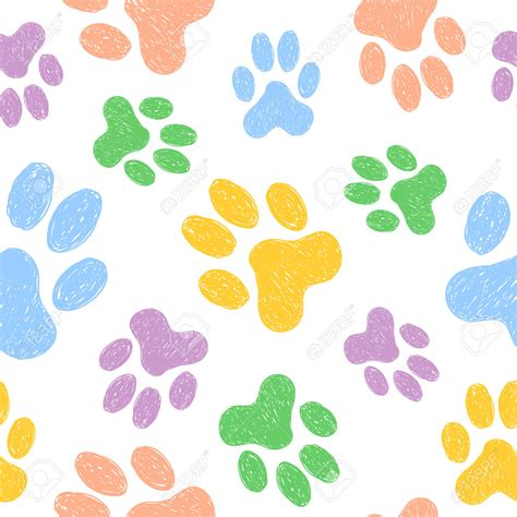 paw background paw clipart animal backgrounds pencil and in color paw