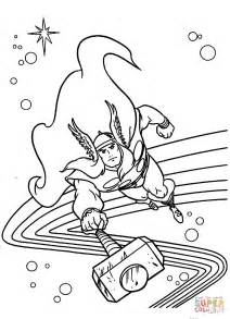 thor coloring pages flying thor coloring page free printable coloring pages