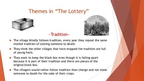themes of the story the lottery group1ppt