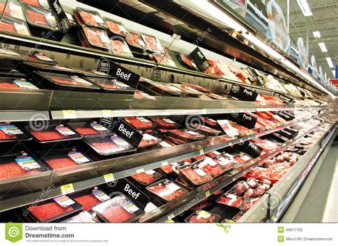 Poultry Shelf by And Poultry Products On Shelves Editorial Photography