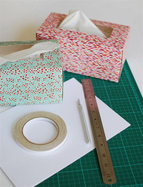 Origami Tissue Box - how to make beautiful origami cards from tissue boxes