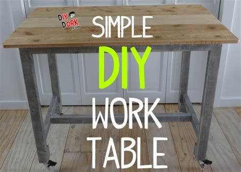 how to a work table how to build a simple low cost work table with reclaimed