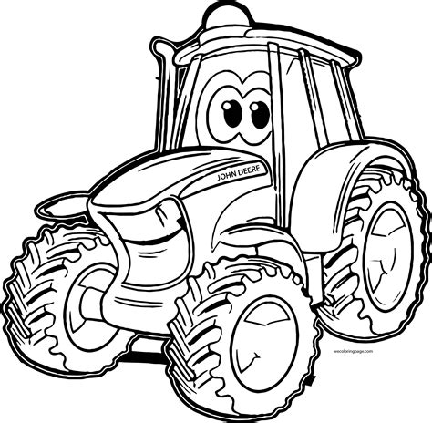 printable coloring pages deere tractors johnny deere tractor coloring pages wecoloringpage