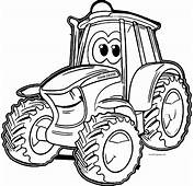 John Johnny Deere Tractor Coloring Pages  Wecoloringpage