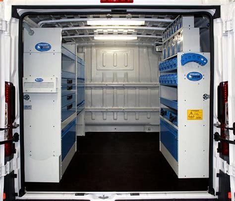 scaffali per officina allestimento ducato con scaffali cassettiere trasparenti