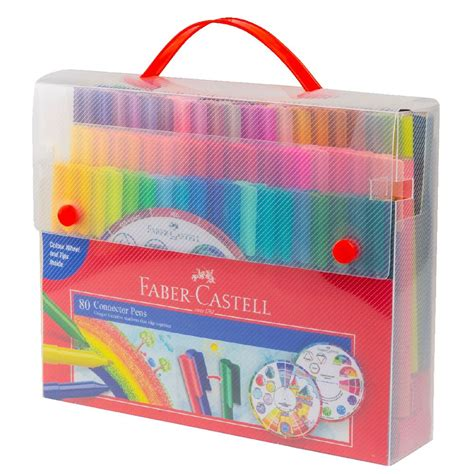 Faber Castell Connector faber castell connector pens with colour wheel 80 pack