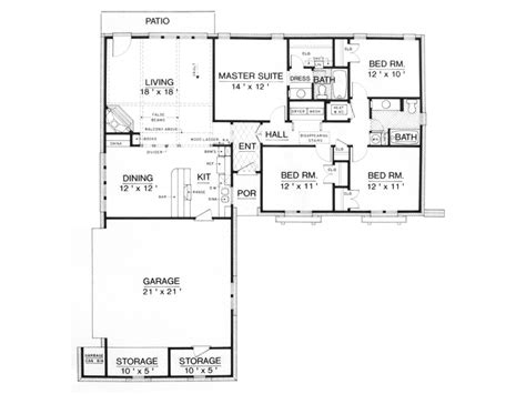 cheap 4 bedroom house plans eplans ranch house plan affordable four bedroom 1500