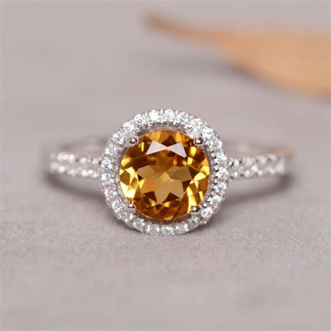 real stones for jewelry citrine ring for real sterling