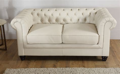 Ivory Chesterfield Sofa by Hton Leather Chesterfield Sofa Suite 3 2 Seater Ivory