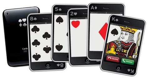 Ios Gift Card - iphone playing cards the awesomer