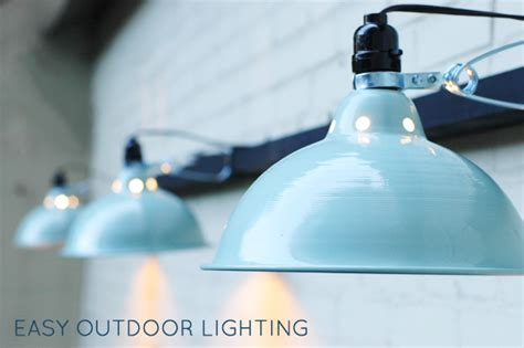 Inexpensive Outdoor Lighting Our And Easy Outdoor Lighting Green Notebook