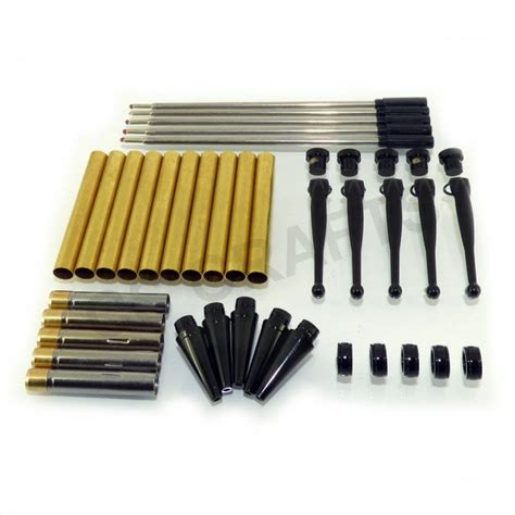 Mainan Fancy Kit Set fancy pen kit set x 5 with a black chrome finish twist mechanism ideal for woodturning projects