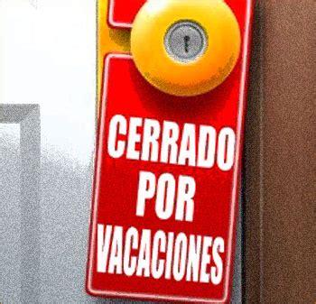 imagenes cerrado x vacaciones vacaciones todo el lenguaje