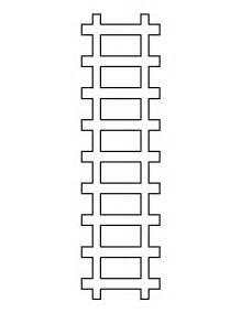 printable train track template