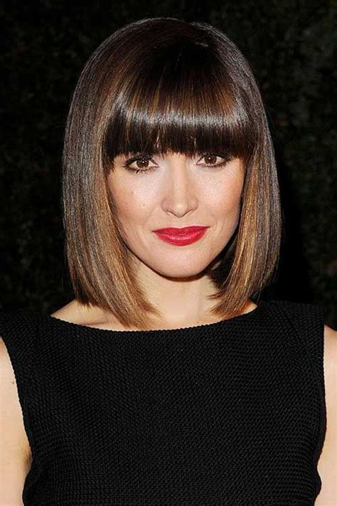 blunt fringe hairstyles 25 best ideas about blunt bob haircuts on pinterest