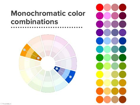 monochromatic color wheel monochromatic colors exle