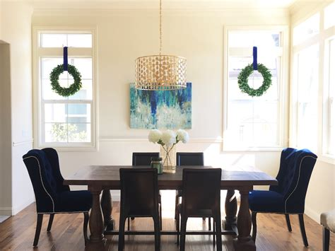 eggshell home rustic modern glam dining room