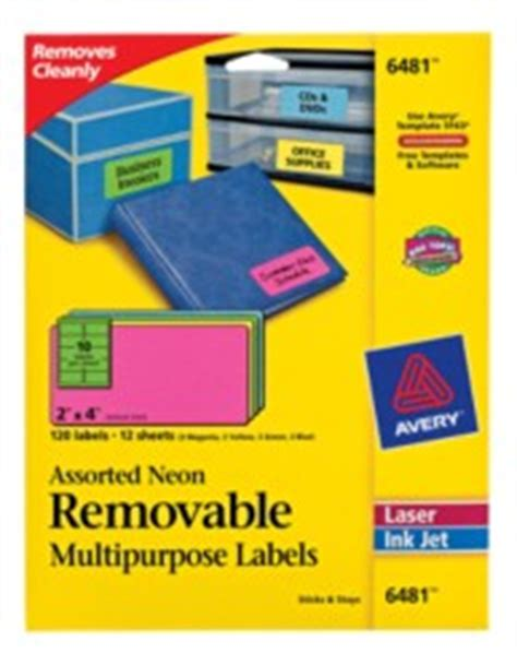 Avery Label Template 6481
