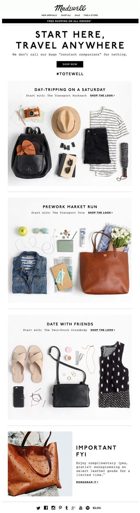 fashion design with marketing madewell newsletter fashion email fashion design