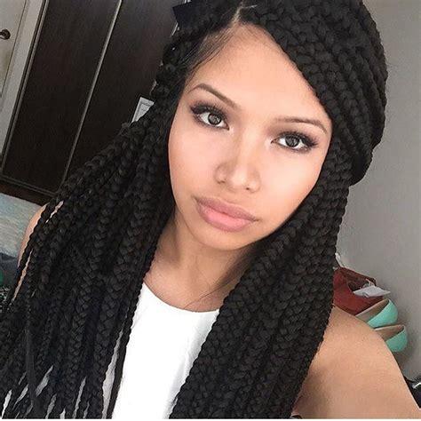 shoulder length box braids hairstyles black hair medium box braids hair styles pinterest medium box