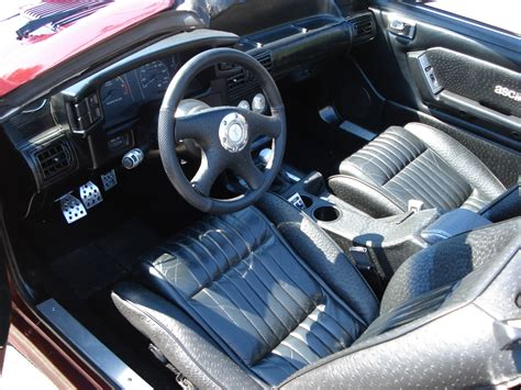 87 Mustang Interior by Maroon Purple 1987 Ford Mustang Asc Mclaren Convertible