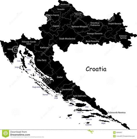 croatia map vector vector croatia map royalty free stock photography image