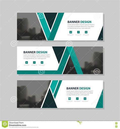 layout masthead template green black triangle abstract corporate business banner