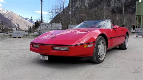chevrolet corvette c4 1989 driving sound and