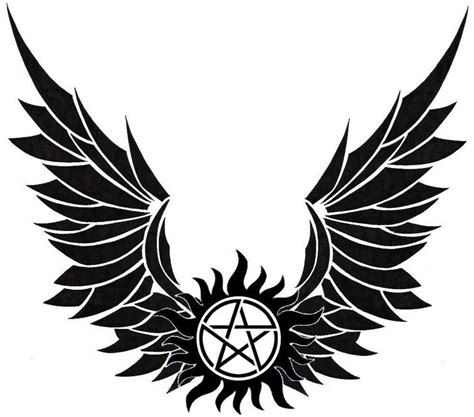 supernatural anti possession tattoo winged anti possession symbol tatoo ideas
