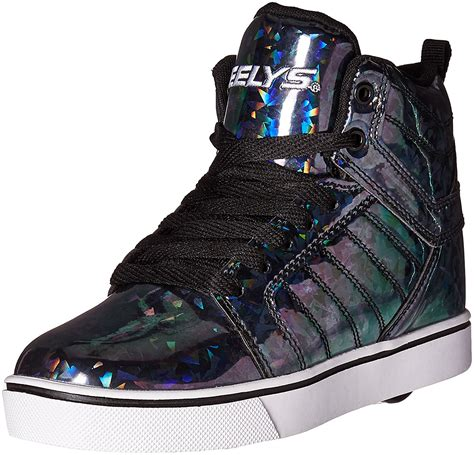 heely shoes for heelys uptown black hologram heely shoe shoes