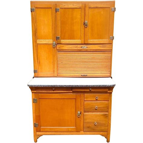 Classic Cupboard - classic early 20th century maple hoosier cabinet at 1stdibs