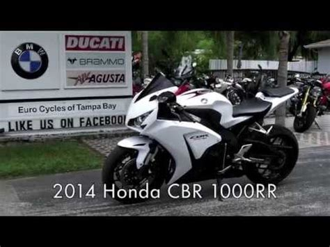 pre owned 2014 honda cbr1000rr pearl white at euro cycles