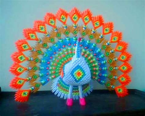 Origami 3d Peacock - 3d origami peacock diagram www imgkid the image