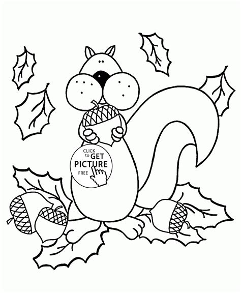 autumn coloring pages for toddlers squirrel and autumn coloring pages for fall seasons