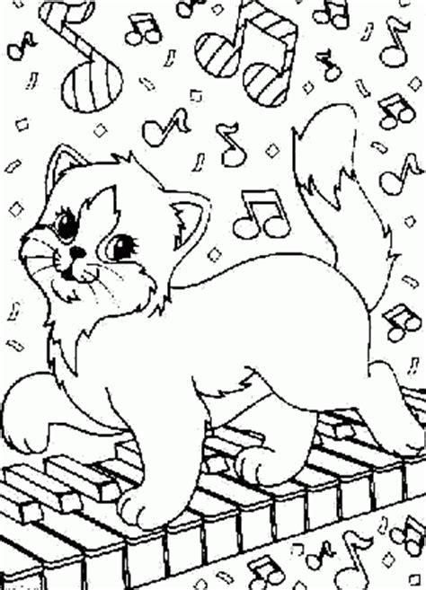 cats musical coloring pages gatito pianista dibujos para colorear para ni 241 os